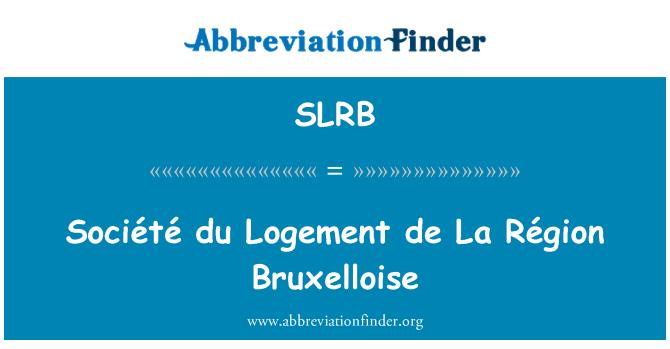 SLRB: Société du Logement de La Région Bruxelloise