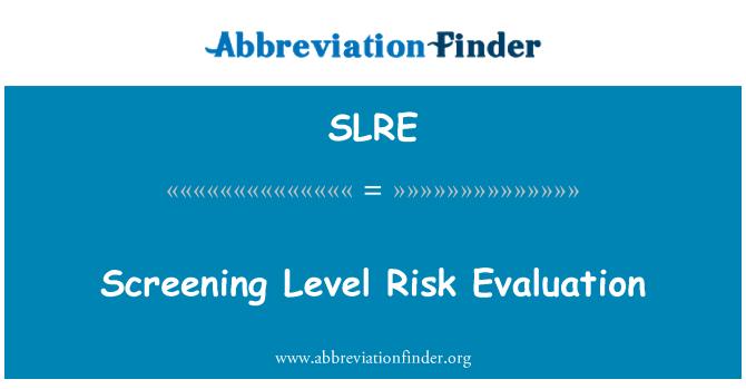 SLRE: Evaluación de nivel de riesgo de proyección