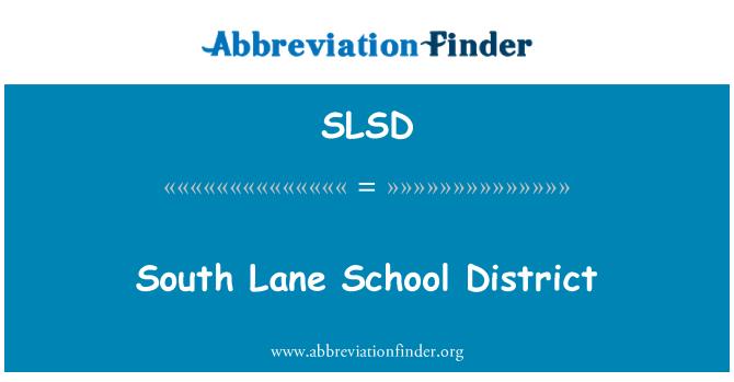 SLSD: Distrito Escolar de South Lane