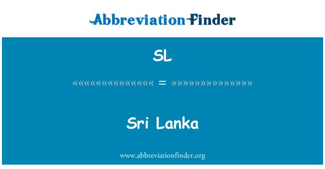 SL: Sri Lanka