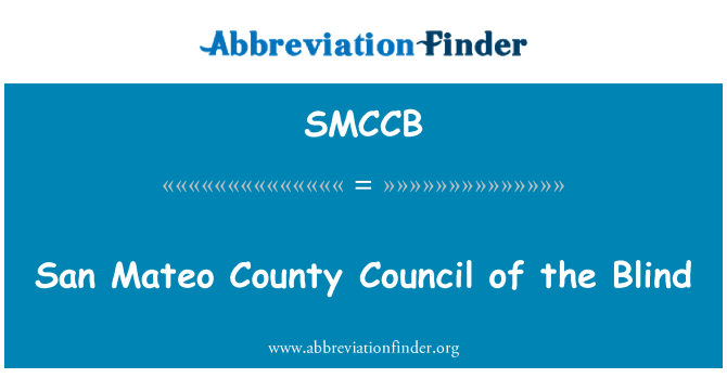 SMCCB: San Mateo County Council of the Blind