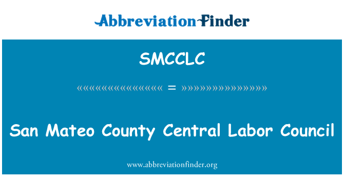 SMCCLC: San Mateo County Central Labor Council