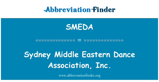 SMEDA: Sydney Middle Eastern Dance Association, Inc.