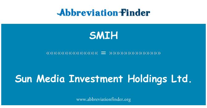 SMIH: 阳光媒体投资控股有限公司