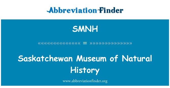 SMNH: Saskatchewan Museum of Natural History