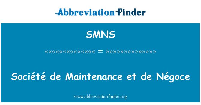 SMNS: Mantenimiento de Société et de Négoce