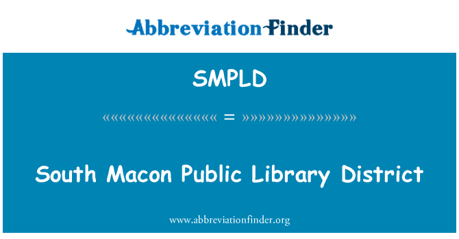 SMPLD: South Macon Public Library District