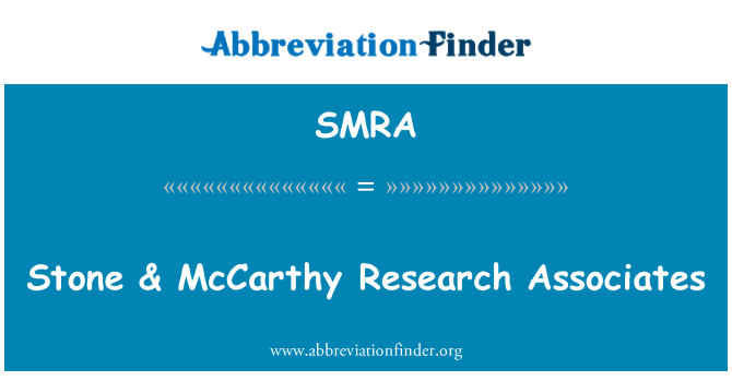 SMRA: Piedra & McCarthy Research Associates