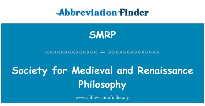 SMRP: Sociedad para la filosofía Medieval y renacentista