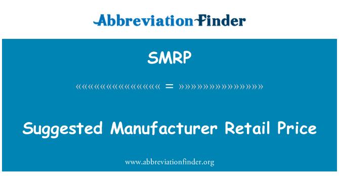 SMRP: Precio de venta sugerido del fabricante
