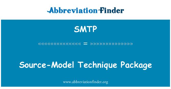SMTP: Paquete modelo fuente técnica