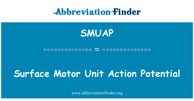 SMUAP: Surface Motor Unit Action Potential