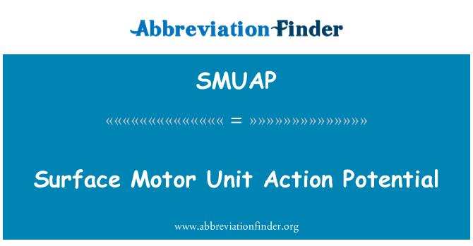 SMUAP: 表面的运动单位动作电位