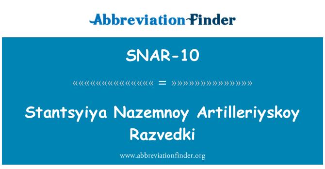 SNAR-10: Stantsyiya Nazemnoy Artilleriyskoy Razvedki