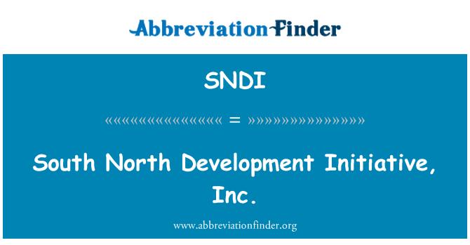 SNDI: Sur norte desarrollo iniciativa, Inc.