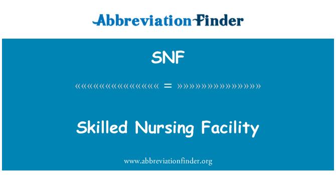 SNF: Centro de enfermería especializada
