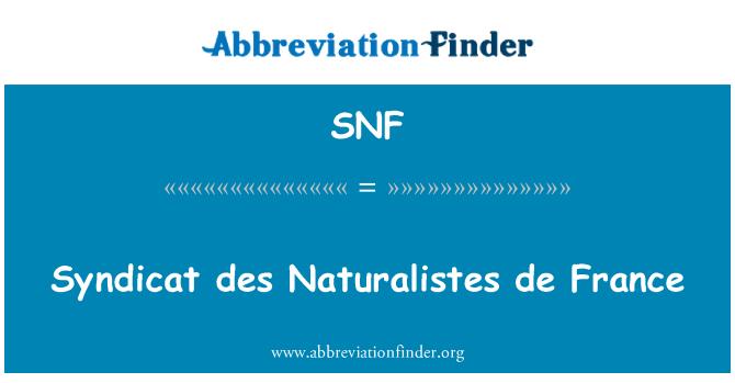 SNF: Syndicat des Naturalistes de France