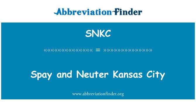 SNKC: Spay and Neuter Kansas City