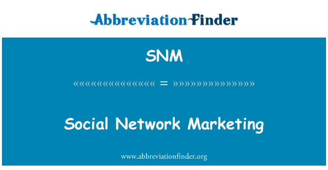 SNM: Red Social Marketing