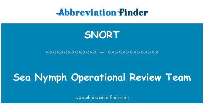 SNORT: Equipo de revisión operacional de ninfa del mar