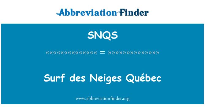 SNQS: Surf des Neiges Québec