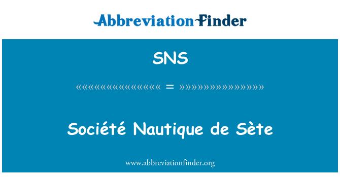 SNS: Société Nautique de Sète