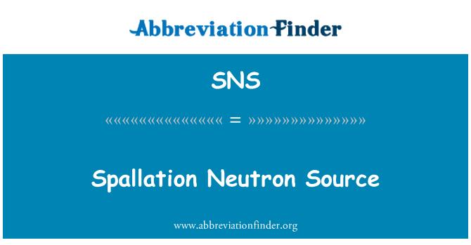 SNS: Spallation Neutron Source