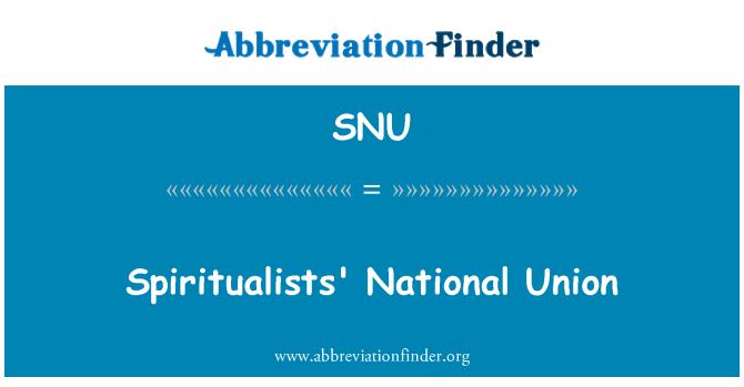 SNU: Spiritualists' National Union