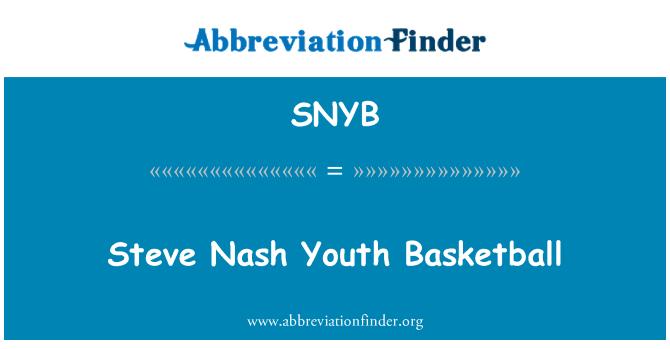 SNYB: Steve Nash Youth Basketball
