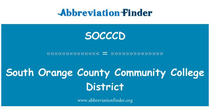 SOCCCD: South Orange County Community College District