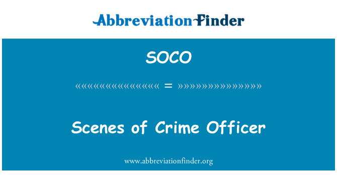 SOCO: Escenas del crimen oficial