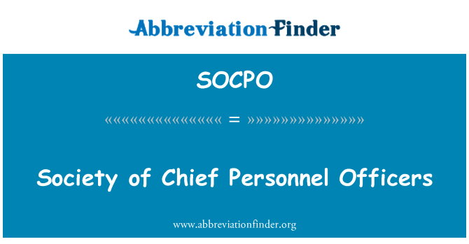 SOCPO: Society of Chief Personnel Officers