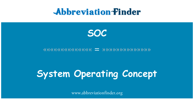 SOC: System Operating Concept