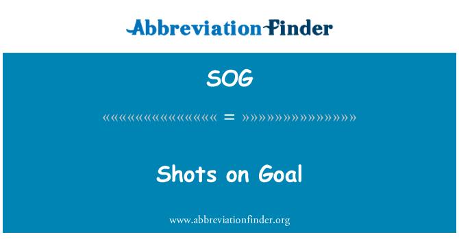 SOG: Shots on Goal