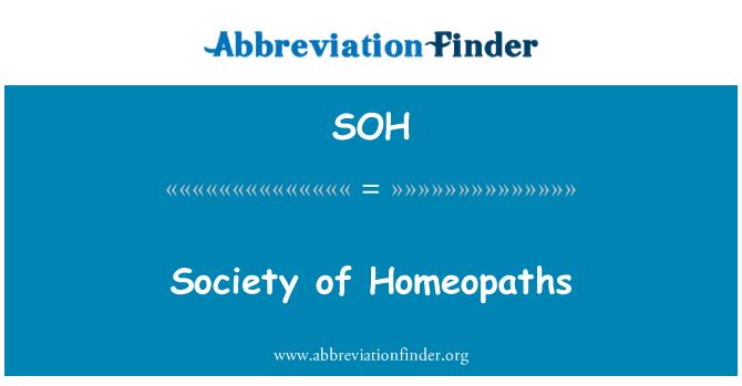 SOH: Sociedad de homeópatas