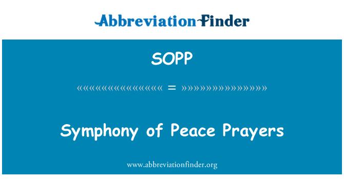 SOPP: Sinfonía de oraciones de paz