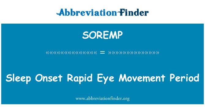 SOREMP: 睡眠发作快速眼动期