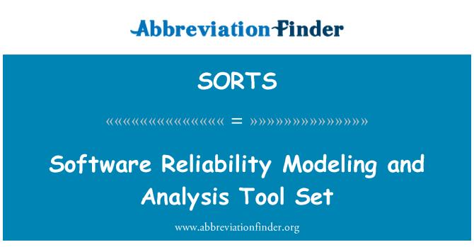 SORTS: Modelado de software de fiabilidad y conjunto de herramientas de análisis