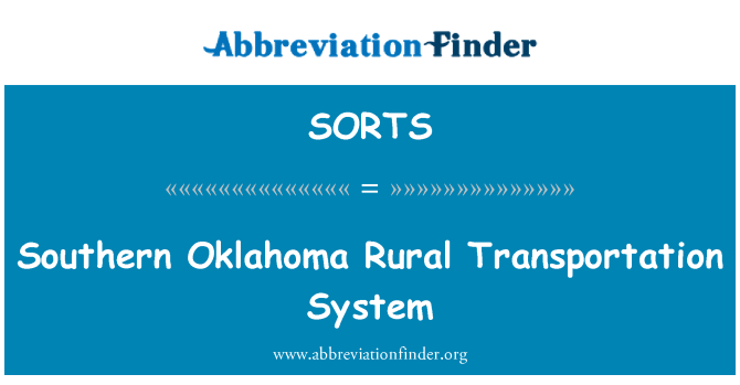 SORTS: Güney Oklahoma kırsal ulaşım sistemi