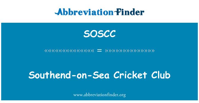 SOSCC: Southend-on-Sea Cricket Club