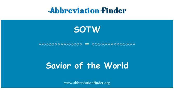 SOTW: Savior of the World