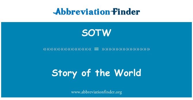 SOTW: Story of the World