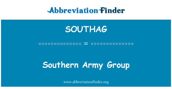 SOUTHAG: Southern Army Group
