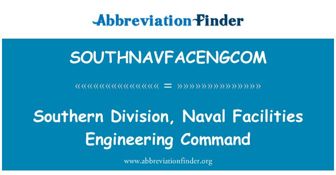 SOUTHNAVFACENGCOM: 南部的分部,海军设施工程司令部