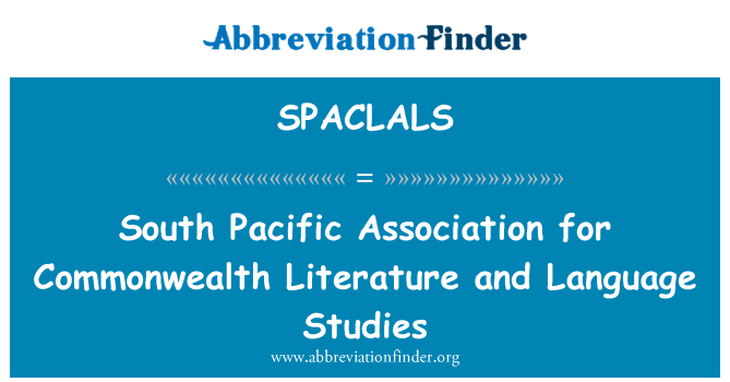 SPACLALS: South Pacific Association for Commonwealth Literature and Language Studies