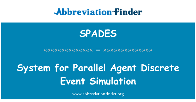 SPADES: System for Parallel Agent Discrete Event Simulation