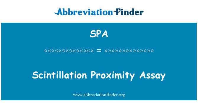 SPA: Scintillation Proximity Assay