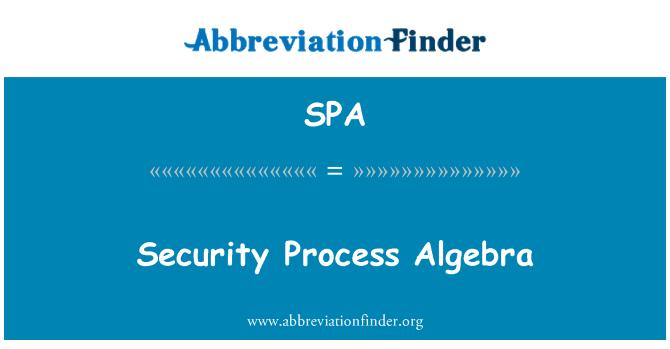 SPA: Security Process Algebra