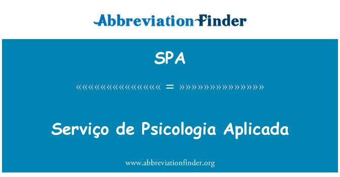 SPA: Serviço de Psicologia Aplicada