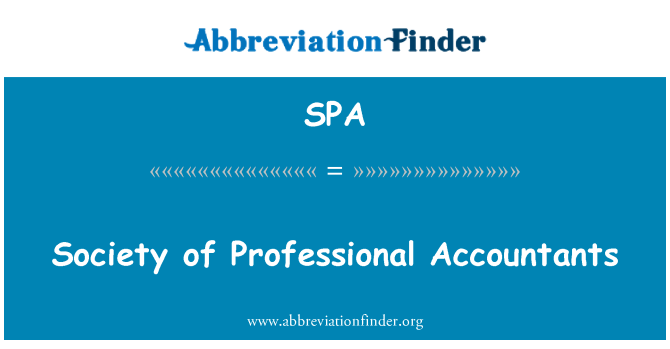 SPA: Society of Professional Accountants